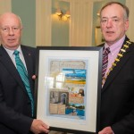 Framed Photomontage by Keith Nolan Photography presented by Chamber President, Mr. Gerry Faughnan to the Canadian Ambassador.