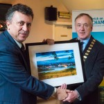 Chamber President, Gerry Faughnan, presents framed photo by Keith Nolan Photographer to the Mexican Ambassador to Ireland on his recent visit.