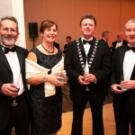 Ms. Bernadette Gallagher, Chamber Council Liaison Officer with LCC attending Excellence in Government Awards 2014 in Dublin.  Pictured with her husband Brian, Sean McDermot and Martin Dolan from LCC.