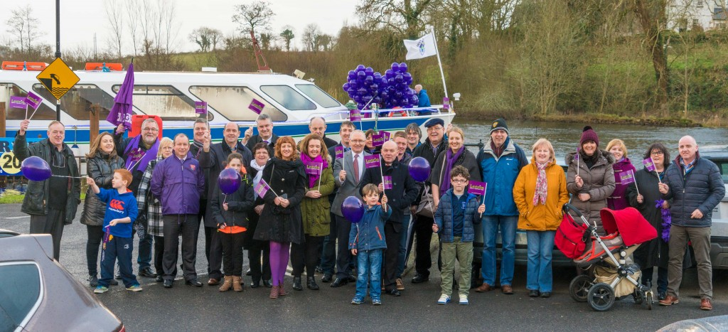 Group photo at the Raising of the Purple Flag in Carrick on Shannon